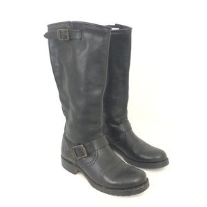 Frye Size 7.5 Veronica Slouch Black Boots 77605